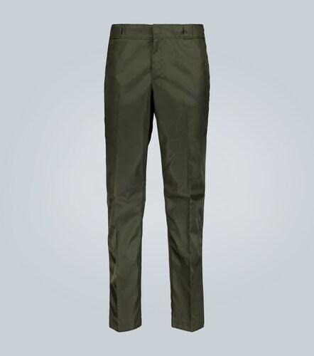 Pantalon en tissu technique à logo - Prada - Modalova