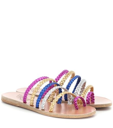 Mules Niki Braids en cuir - Ancient Greek Sandals - Modalova