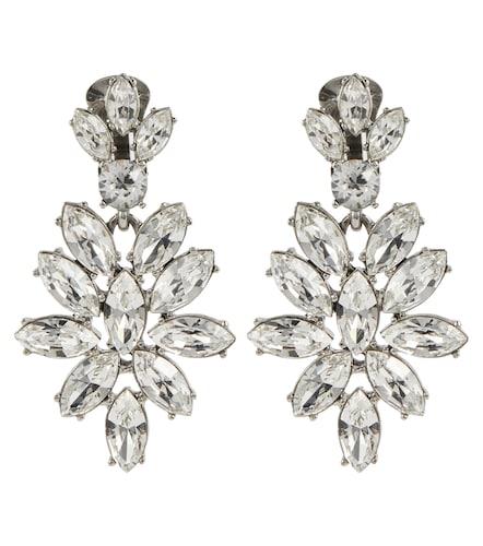 Boucles d'oreilles clip à cristaux - Oscar de la Renta - Modalova
