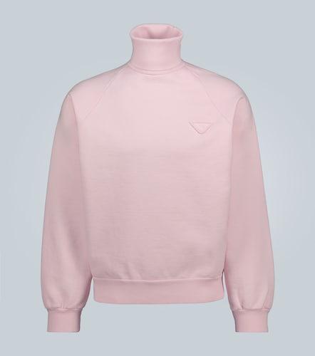 Sweat-shirt oversize à col roulé - Prada - Modalova