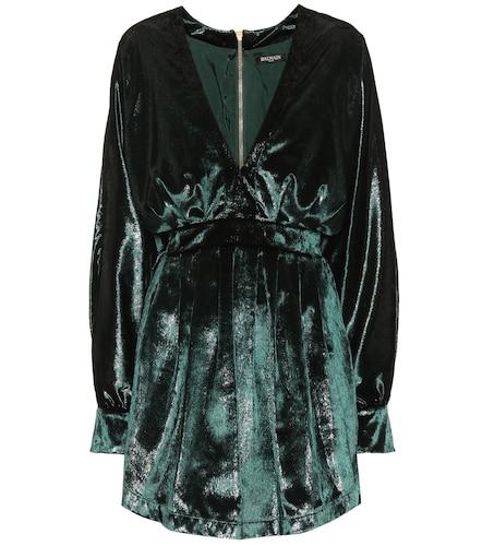 Robe en velours métallisé - Balmain - Modalova
