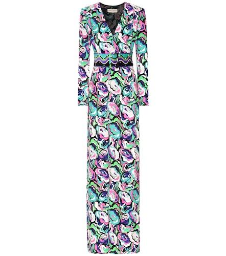 Robe longue en crêpe de coton mélangé - Emilio Pucci - Modalova