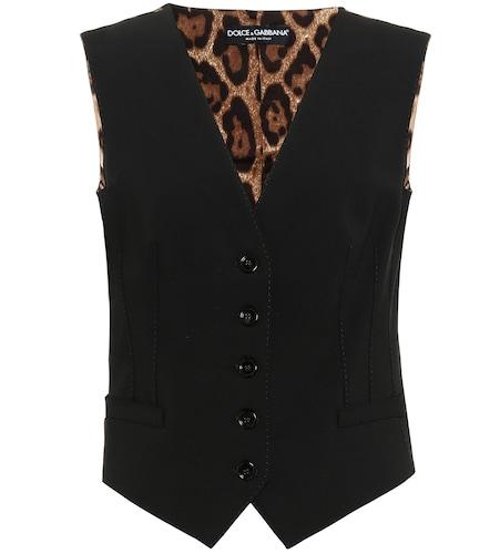 Gilet en laine mélangée - Dolce & Gabbana - Modalova