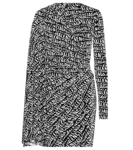 Robe imprimée en velours - Balenciaga - Modalova