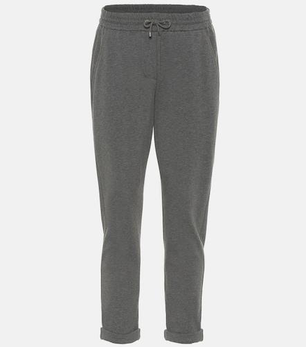 Pantalon de survêtement en coton stretch - Brunello Cucinelli - Modalova