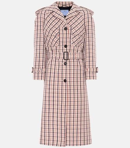 Manteau en laine à carreaux - Prada - Modalova