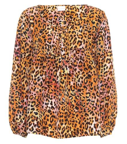 Exclusivité Mytheresa – Blouse en soie à motif léopard - ANNA KOSTUROVA - Modalova
