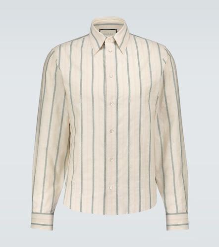 Chemise rayée GG en coton - Gucci - Modalova