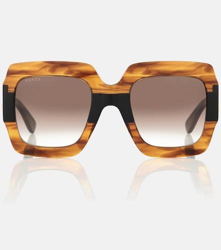 Lunettes de soleil carrées - Gucci - Modalova
