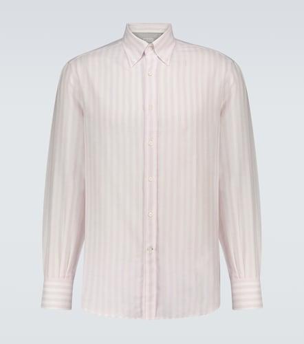 Chemise rayée à manches longues - Brunello Cucinelli - Modalova