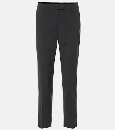 Pantalon raccourci en laine - Prada - Modalova