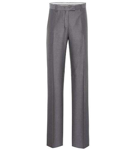Pantalon à taille mi-haute en laine - Salvatore Ferragamo - Modalova