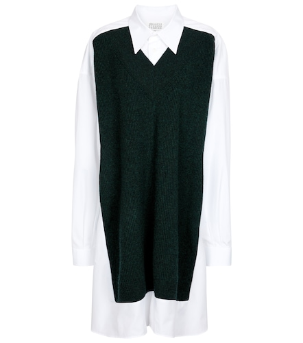 Robe chemise en coton et laine - Maison Margiela - Modalova