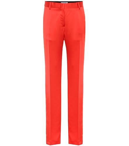 Pantalon en satin - MSGM - Modalova