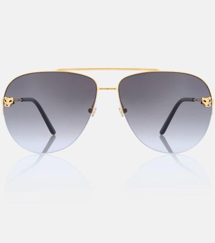 Lunettes de soleil aviateur Panthère de Cartier - Cartier Eyewear Collection - Modalova
