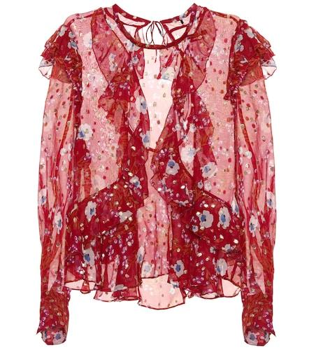 Top Muster en soie mélangée imprimée - Isabel Marant - Modalova