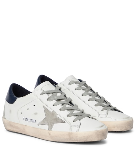 Baskets en cuir et daim Superstar - Golden Goose - Modalova