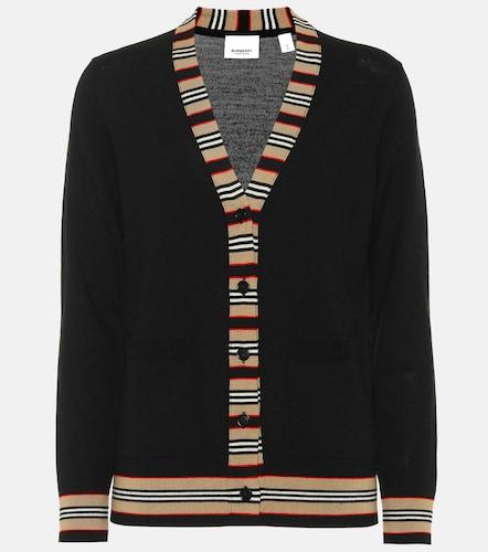 Cardigan Icon Stripe en laine - Burberry - Modalova