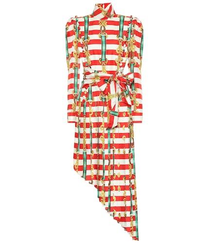 Robe asymétrique imprimée en soie - Gucci - Modalova