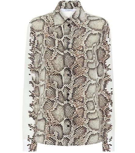 Chemise imprimée en soie - Givenchy - Modalova