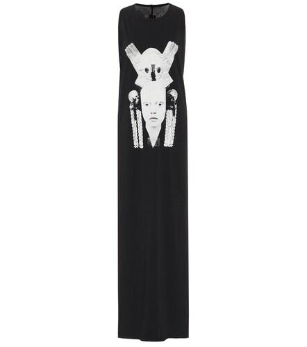 Robe longue DRKSHDW imprimée en coton - Rick Owens - Modalova