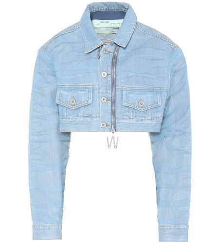 Veste en jean et tulle raccourcie - Off-White - Modalova