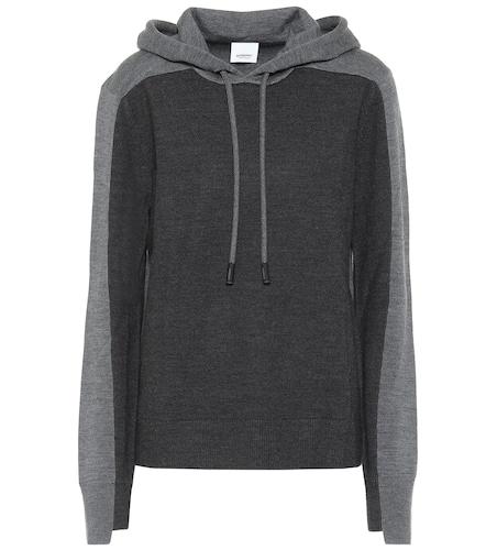 Sweat-shirt à capuche en laine mérinos mélangée - Burberry - Modalova