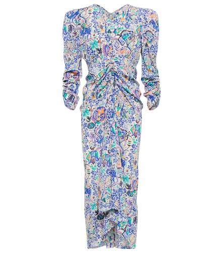 Robe midi Albi imprimée en soie mélangée - Isabel Marant - Modalova