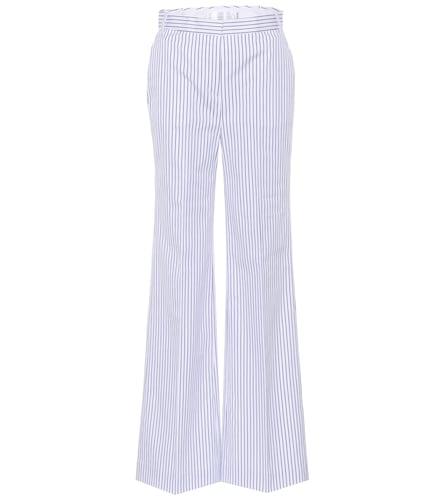 Pantalon large en coton rayé - Victoria Victoria Beckham - Modalova