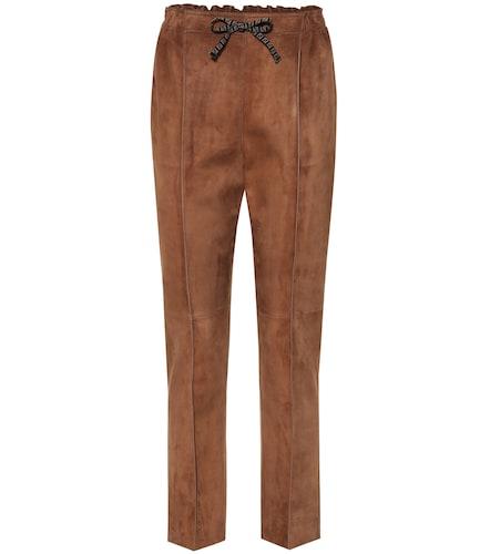 Pantalon à taille haute en daim - Fendi - Modalova