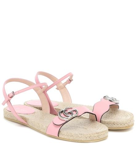 Sandales espadrilles GG en cuir - Gucci - Modalova