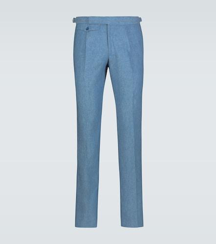 Pantalon slim en lin - Incotex - Modalova