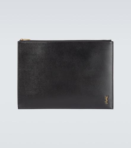 Pochette zippée en cuir - Saint Laurent - Modalova