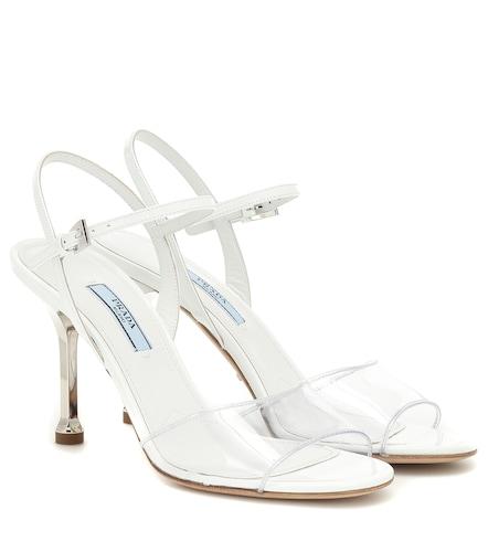 Sandales en cuir et PVC - Prada - Modalova