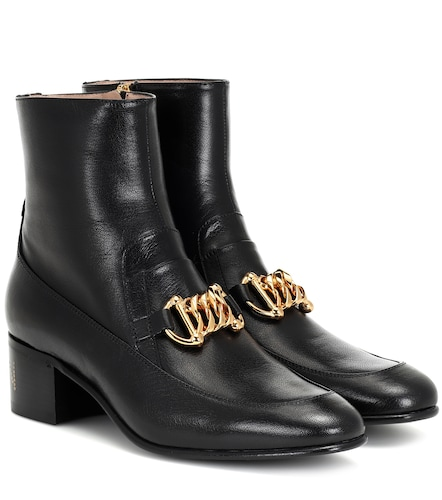 Bottines Horsebit Chain en cuir - Gucci - Modalova