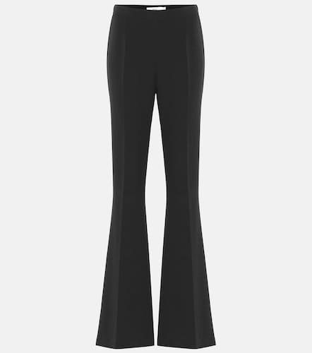 Pantalon évasé Halluana à taille haute en crêpe - Safiyaa - Modalova