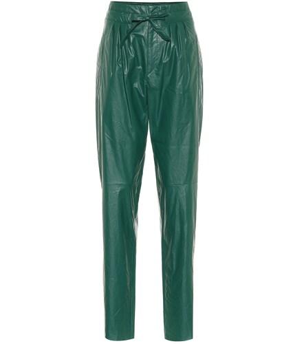 Pantalon paper bag Duard en cuir synthétique - Isabel Marant - Modalova