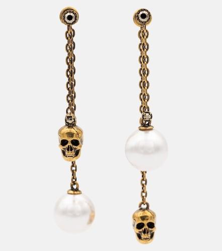 Boucles d'oreilles à perles fantaisie - Alexander McQueen - Modalova
