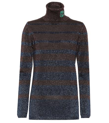 Pull à col roulé en laine mélangée - Prada - Modalova
