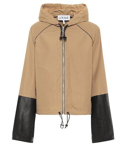 Veste à capuche en coton et cuir - Loewe - Modalova