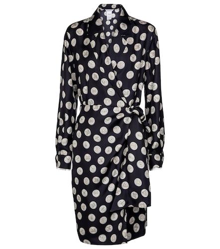 Robe portefeuille Sandalo imprimée en soie - Max Mara - Modalova