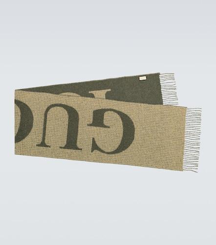 Écharpe en laine mélangée à logo - Gucci - Modalova