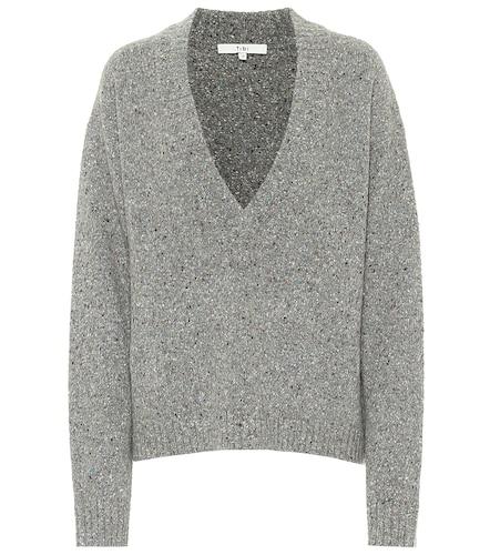 Pull Tweedy en laine mélangée - Tibi - Modalova