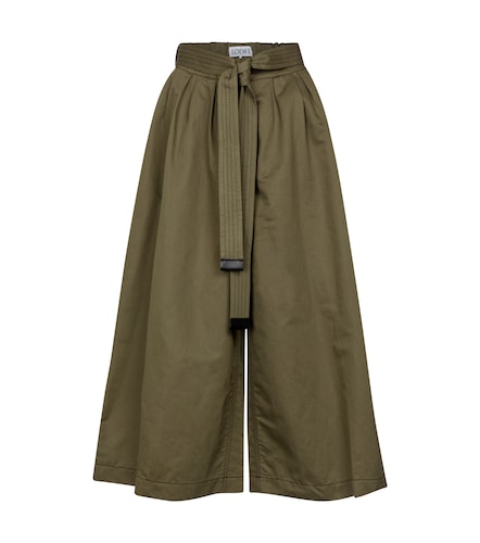 Jupe-culotte en coton et lin - LOEWE - Modalova