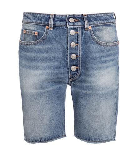 Short en jean à taille haute - MM6 Maison Margiela - Modalova