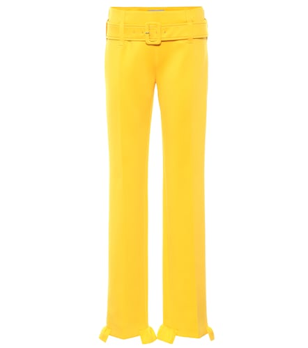 Pantalon droit en jersey stretch - Prada - Modalova