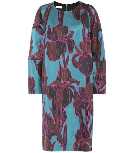 Robe Dubya en coton mélangé à fleurs - Dries Van Noten - Modalova