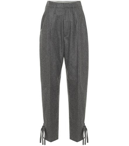 Pantalon Racomisl à taille haute en laine - Isabel Marant - Modalova