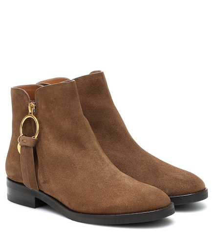 Bottines Louise Flat en daim - See By Chloé - Modalova