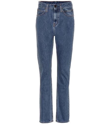 Jean droit à taille haute en coton - Calvin Klein Jeans Est. 1978 - Modalova
